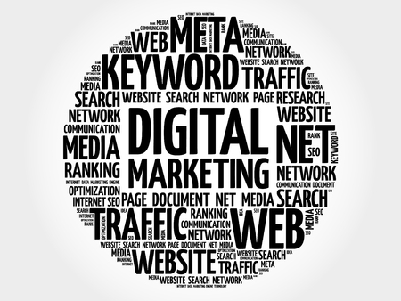 digital marketing: Digital Marketing word cloud, business concept