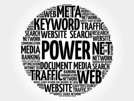 POWER word cloud collage, business concept background