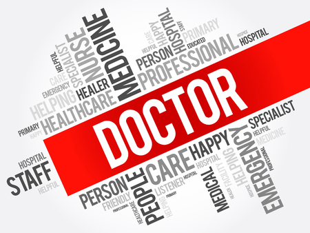 healer: Doctor word cloud collage, healthcare concept background