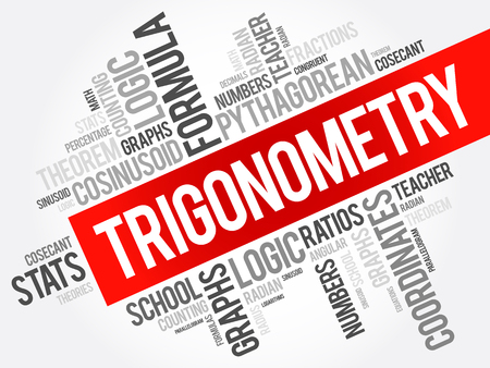 harmonic: Trigonometry word cloud collage, education concept background