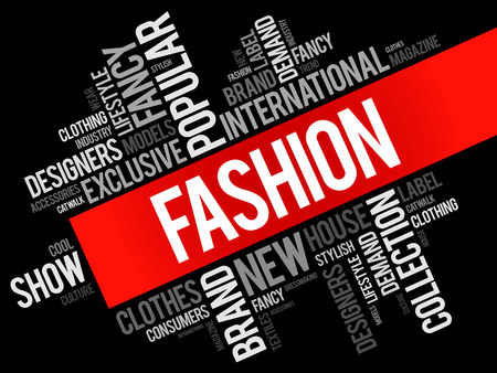 Fashion word cloud collage, concept background Stock Vector - 74446012