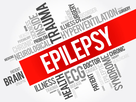 Epilepsy word cloud collage, health concept background