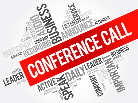 attendee: Conference Call word cloud collage, business concept background
