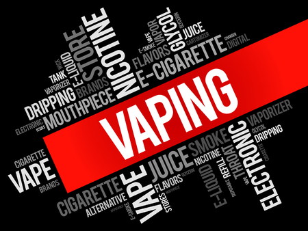starter: Vaping word cloud collage, concept background