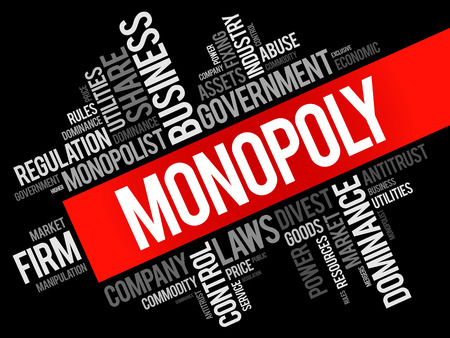 antitrust: Monopoly word cloud collage, business concept background