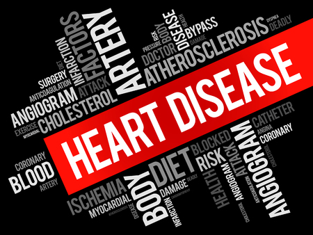 dyspnea: Heart Disease word cloud collage, health concept background