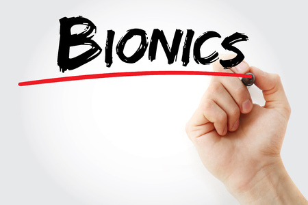 Hand writing Bionics with marker, concept background Stock Photo