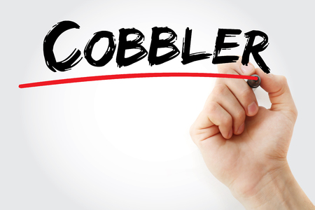 craftmanship: Hand writing Cobbler with marker, concept background
