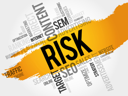 keyword: RISK word cloud, business concept
