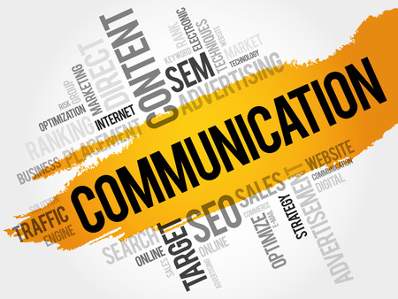 sender: COMMUNICATION word cloud, business concept