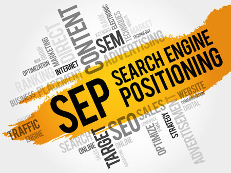 SEP (search engine positioning) word cloud business concept