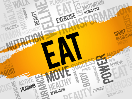 carbohydrates: EAT word cloud, fitness, sport, health concept Illustration