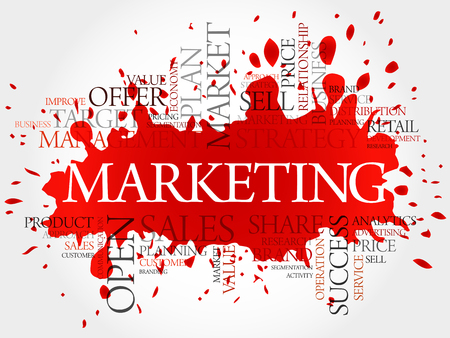 keyword research: Marketing word cloud, business concept