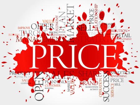 PRICE word cloud, business concept background Illustration