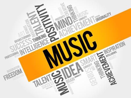 Music word cloud concept Illustration