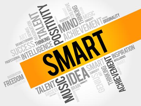 Smart word cloud, business concept Illustration