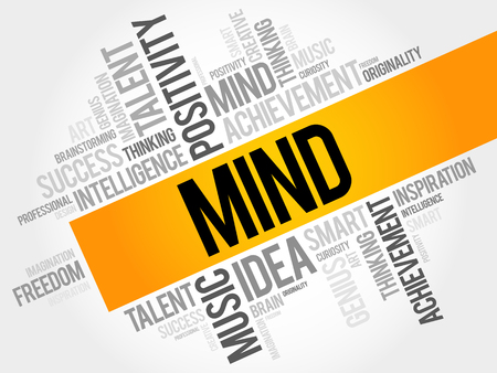 Mind woord wolk, business concept Stock Illustratie