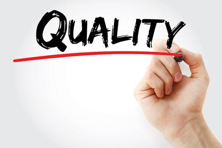 alkalmasság: Kézírás Minőségi marker, üzleti koncepció háttér