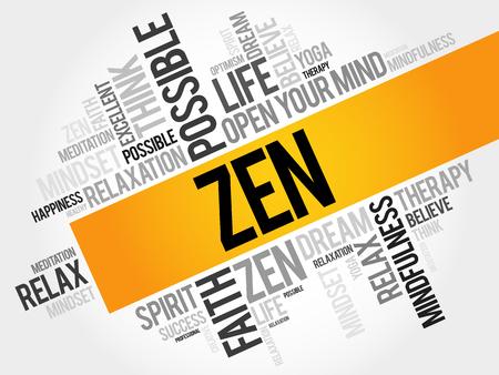 taoist: Zen word cloud concept