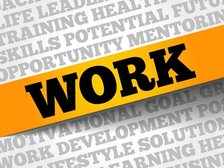 common goal: WORK word cloud, business concept