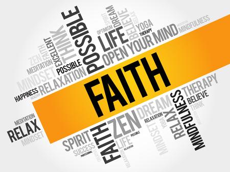 Faith word cloud concept