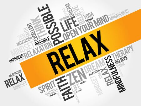 spa collage: Relax word cloud concept Illustration