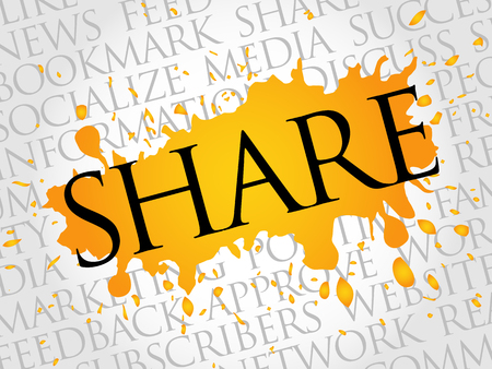 wiki: SHARE word cloud, technology business concept background