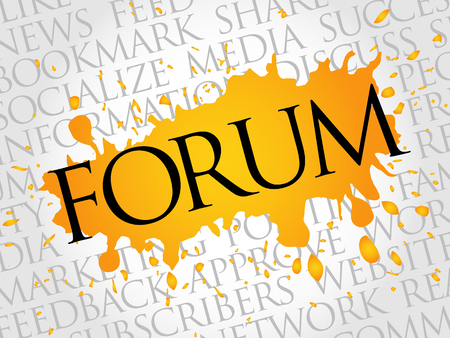 Forum word cloud, technology business concept background