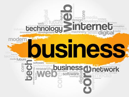 Business word cloud, technology concept background