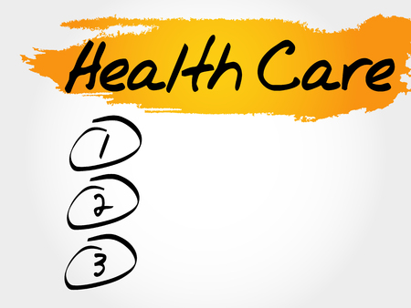 Health care blank list, health concept Illustration