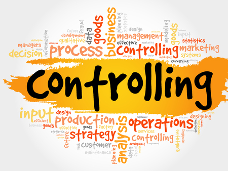 Controlling word cloud, business concept Illustration