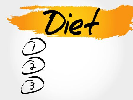 Diet blank list, sport, fitness, health concept