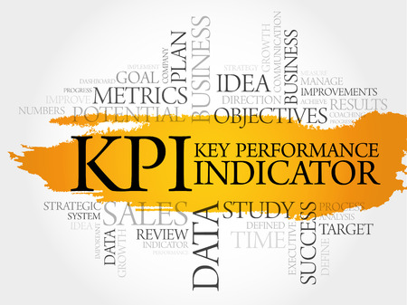 KPI - Key Performance Indicator word cloud, business concept Illustration