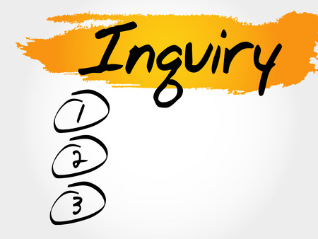 Inquiry blank list, business concept Illustration
