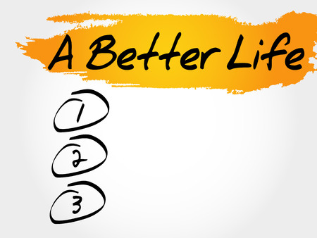 A Better Life blank list, health concept Illustration