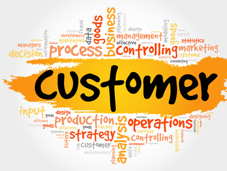 responded: CUSTOMER word cloud collage, business concept background