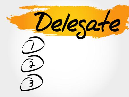 Delegate blank list, business concept Illustration