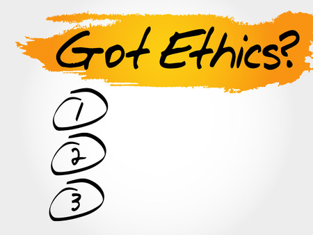 scruples: Got Ethics? blank list, business concept