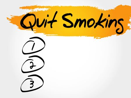 Quit Smoking blank list, health concept