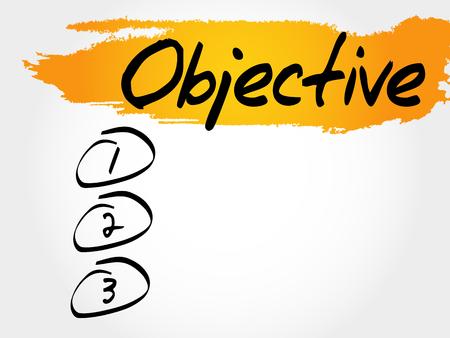 Objective blank list, business concept Illustration
