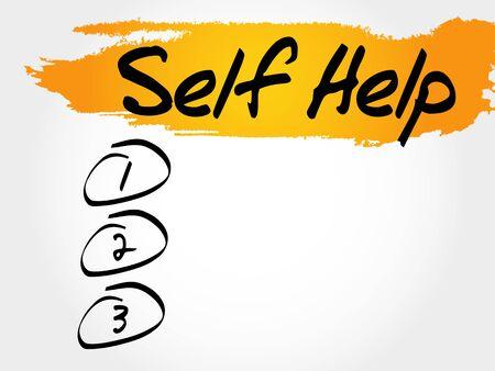 Self Help blank list, health concept