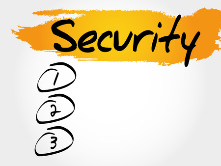 trojanhorse: SECURITY blank list, business concept