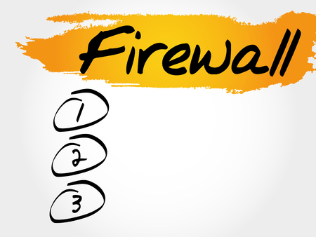 malware: FIREWALL blank list, business concept Illustration