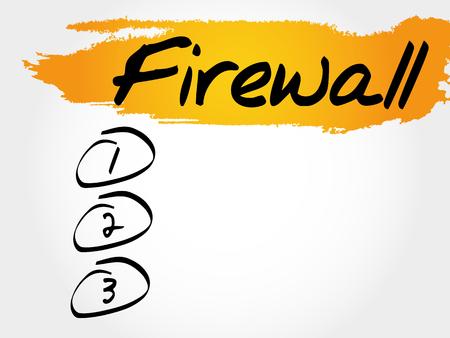 FIREWALL blank list, business concept Illustration