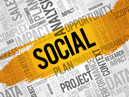 SOCIAL word cloud, business concept Illustration