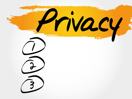 PRIVACY blank list, business concept Illustration