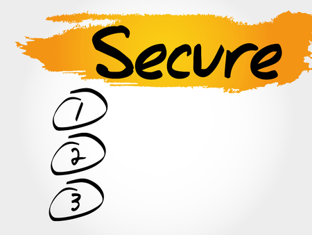 SECURE blank list, business concept
