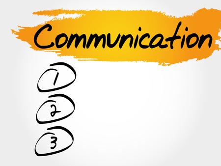 COMMUNICATION blank list, business concept