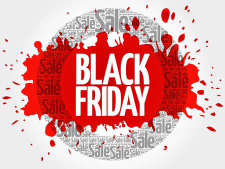Black Friday circle word cloud, business concept background