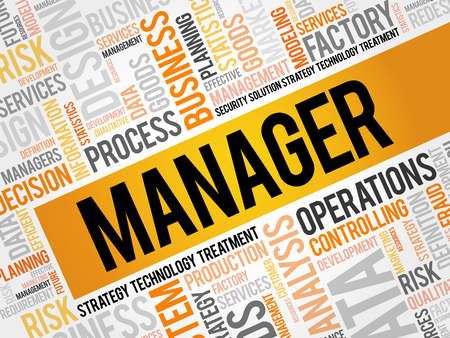 supervise: Manager word cloud, business concept